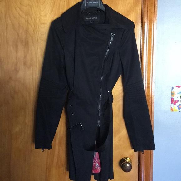 Black Rivet Jackets & Blazers - Black Trench Coat